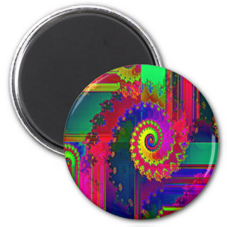 Bleeding Colors Fractal 2 Inch Round Magnet