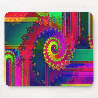 Bleeding Colors Fractal Mouse Pad