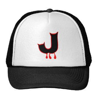 ╚»★Bleeding Devil's Teeth-Initial J Trucker Hat★«╝ Trucker Hat