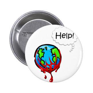 Bleeding Earth 2 Pinback Button