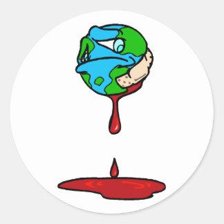 Bleeding Earth Classic Round Sticker