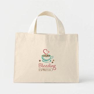Bleeding Espresso Tiny Tote Mini Tote Bag