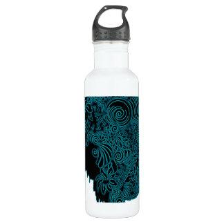 Bleeding Face - Teal Stainless Steel Water Bottle