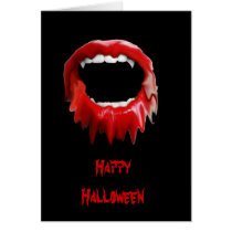 Bleeding fangs-GREETINGS Card