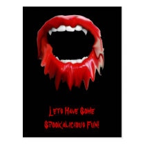 Bleeding fangs-invite postcard