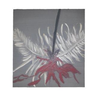 Bleeding feather.jpg notepad