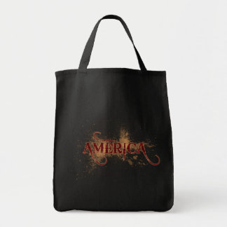 Bleeding Grunge America Tote Bag