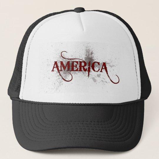 Bleeding Grunge America Trucker Hat
