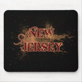 Bleeding Grunge New Jersey Mousepad Dark