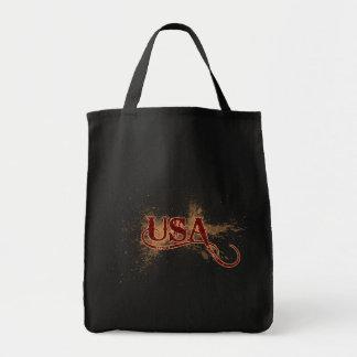 Bleeding Grunge USA Tote Bag