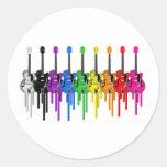 Bleeding Guitars Classic Round Sticker