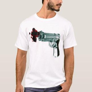 Bleeding Gun thin white and gray striped mens tee