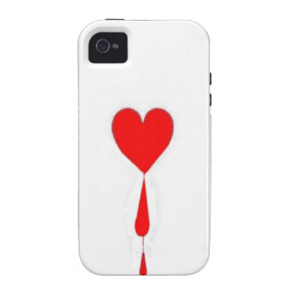 Bleeding Heart  Ace Card by Sharles iPhone 4/4S Case