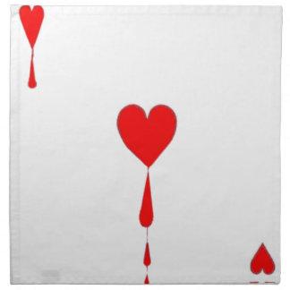 Bleeding Heart  Ace Card by Sharles Cloth Napkin