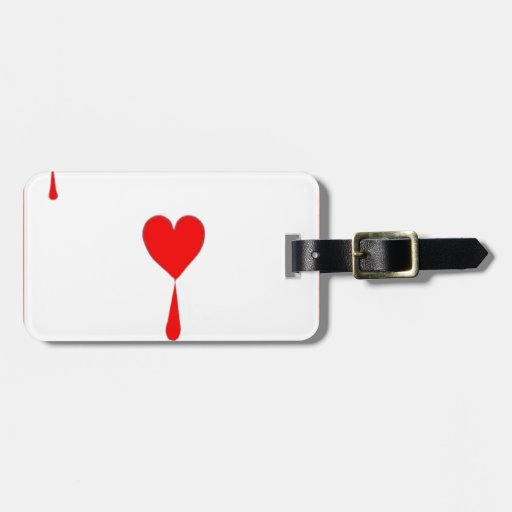 Bleeding Heart  Ace Card by Sharles Luggage Tag
