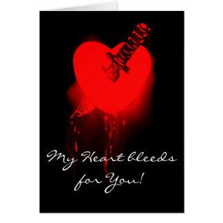 Bleeding Heart and Knife Greeting Card