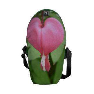Bleeding Heart Blossom Messenger Bags