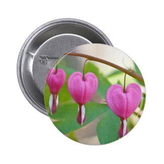 Bleeding Heart Blossoms Button