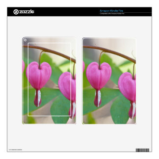 Bleeding Heart Blossoms Kindle Fire Decal