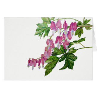 "Bleeding Heart Card (7"" X 5"") with envelope"