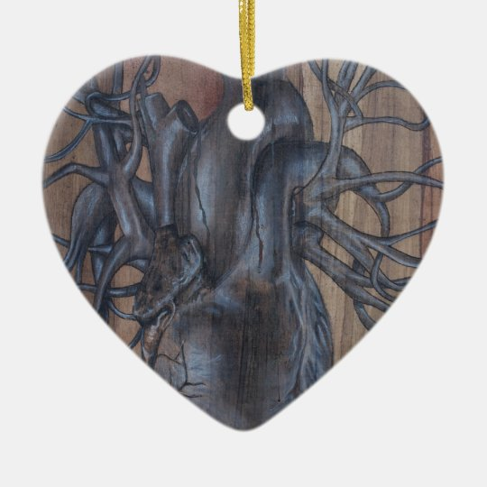 Bleeding Heart Ceramic Ornament