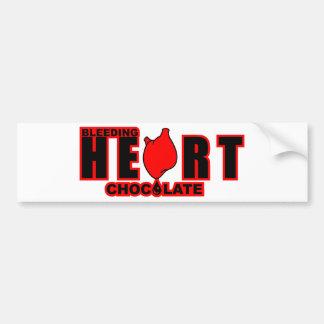 Bleeding Heart Chocolate Bumper Sticker