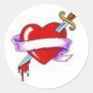 Bleeding Heart Classic Round Sticker