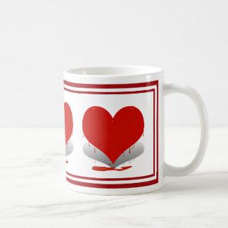 Bleeding Heart Classic White Coffee Mug