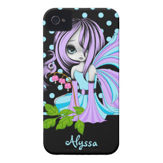 Bleeding Heart Fae Blue-Purp iPhone 4/4S Case-Mate