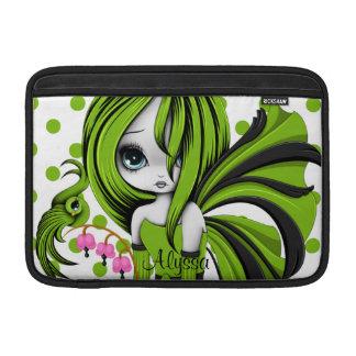 """Bleeding Heart Fae MacBook Air 11"""" Sleeve Green Sleeves For MacBook Air"""