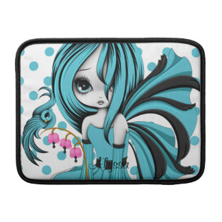 """Bleeding Heart Fae MacBook Air 13"""" Sleeve Blue-Bla Sleeves For MacBook Air"""