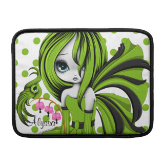 "Bleeding Heart Fae MacBook Air 13"" Sleeve Green Sleeve For MacBook Air"