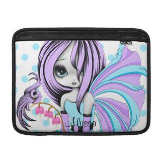 """Bleeding Heart Fae MacBook Air 13"""" Sleeve Purple-B MacBook Air Sleeve"""