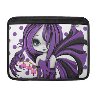 """Bleeding Heart Fae MacBook Air 13"""" Sleeve Purple Sleeves For MacBook Air"""