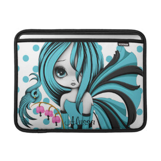 Bleeding Heart Fae MacBook Air Sleeve Blue-Bla