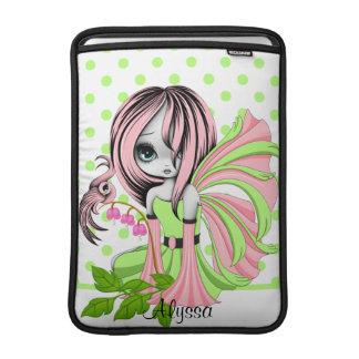 Bleeding Heart Fae MacBook Air Sleeve Pink-Green