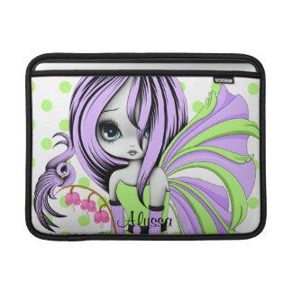Bleeding Heart Fae MacBook Air Sleeve Purple-G