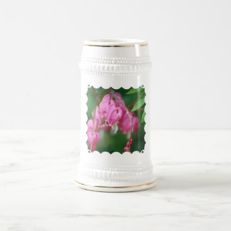 Bleeding Heart Flowers  Beer Mug