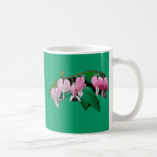 Bleeding Heart Flowers Classic White Coffee Mug