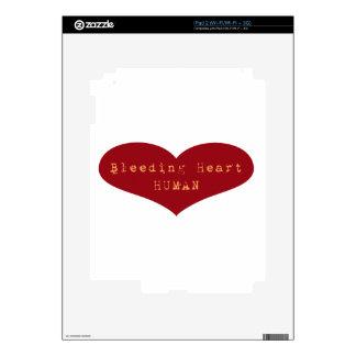 Bleeding Heart Human Skin For The iPad 2