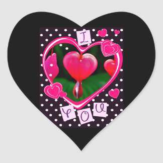 Bleeding Heart I Love You Stickers