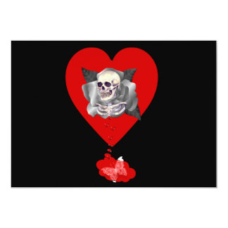 Bleeding Heart 5x7 Paper Invitation Card