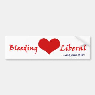 Bleeding Heart Liberal Bumper Sticker