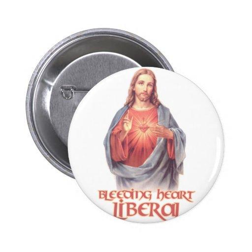 Bleeding Heart Liberal Jesus Pins