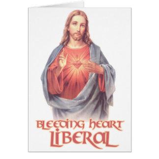 Bleeding Heart Liberal Jesus Card