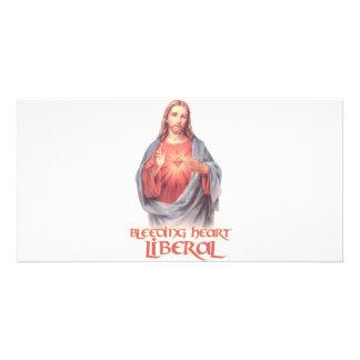 Bleeding Heart Liberal Jesus Photo Card
