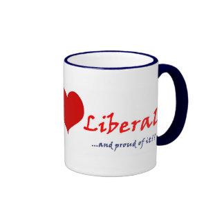 Bleeding Heart Liberal Ringer Mug