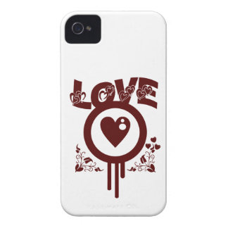Bleeding Heart Love. Funky Vector style Case-Mate iPhone 4 Case