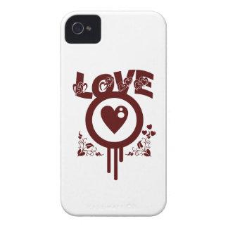Bleeding Heart Love. Funky Vector style iPhone 4 Case-Mate Case