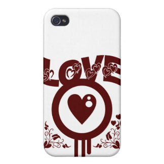 Bleeding Heart Love. Funky Vector style iPhone 4/4S Cover